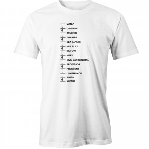 Beard Length Measuring T-shirt